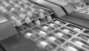 capsules on a production line